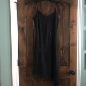 Sequin Asymmetrical tank dress